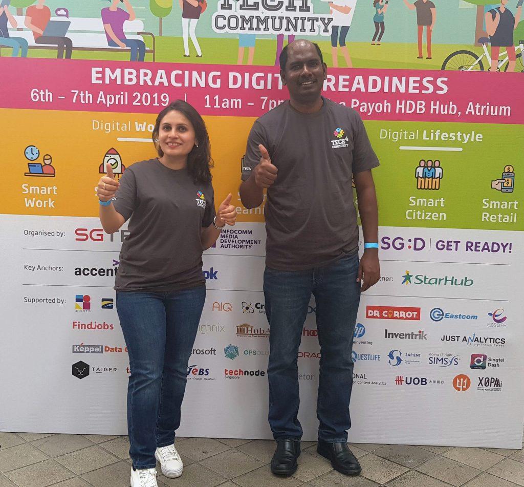 Shweta & Senthil - tec4community volunteer